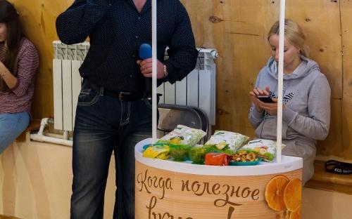 Дегустация сушеных фруктов и фруктовых чипсов на соревновании «Siberian POWER»
